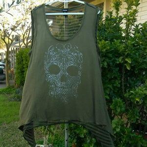 Torrid Sleeveless Sheer Shirt Size 1X